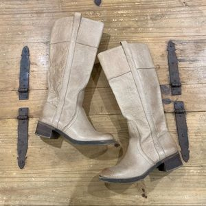 Lucky Brand Hibiscus blond tan pull on boots 7.5
